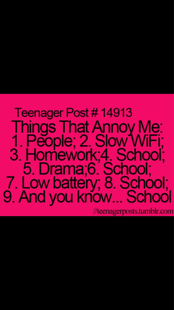 things that annoy me in life