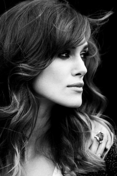b&w, beauty, black and white and keira