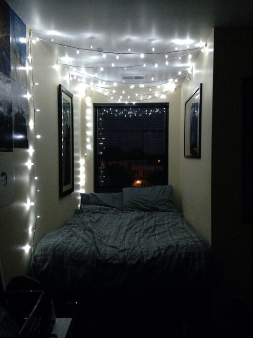 Hanging Up Christmas Lights In Room