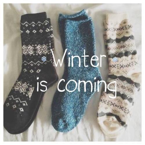 autumn, fashion, quote, socks, warm, welcome, winter