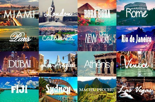 athens, beautiful, bora bora, calabria, cities, dubai, fiji, las vegas, london, los angeles, love, machu picchu, miami, new york, paris, rio de janeiro, rome, sydney, venice