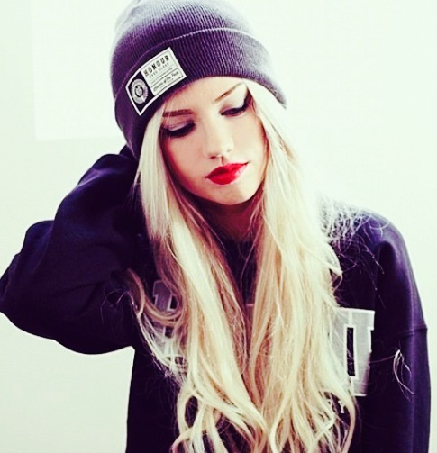 Beanie Clothing Fashion Girl Grunge Hair Outfit Photography Pretty Style Image