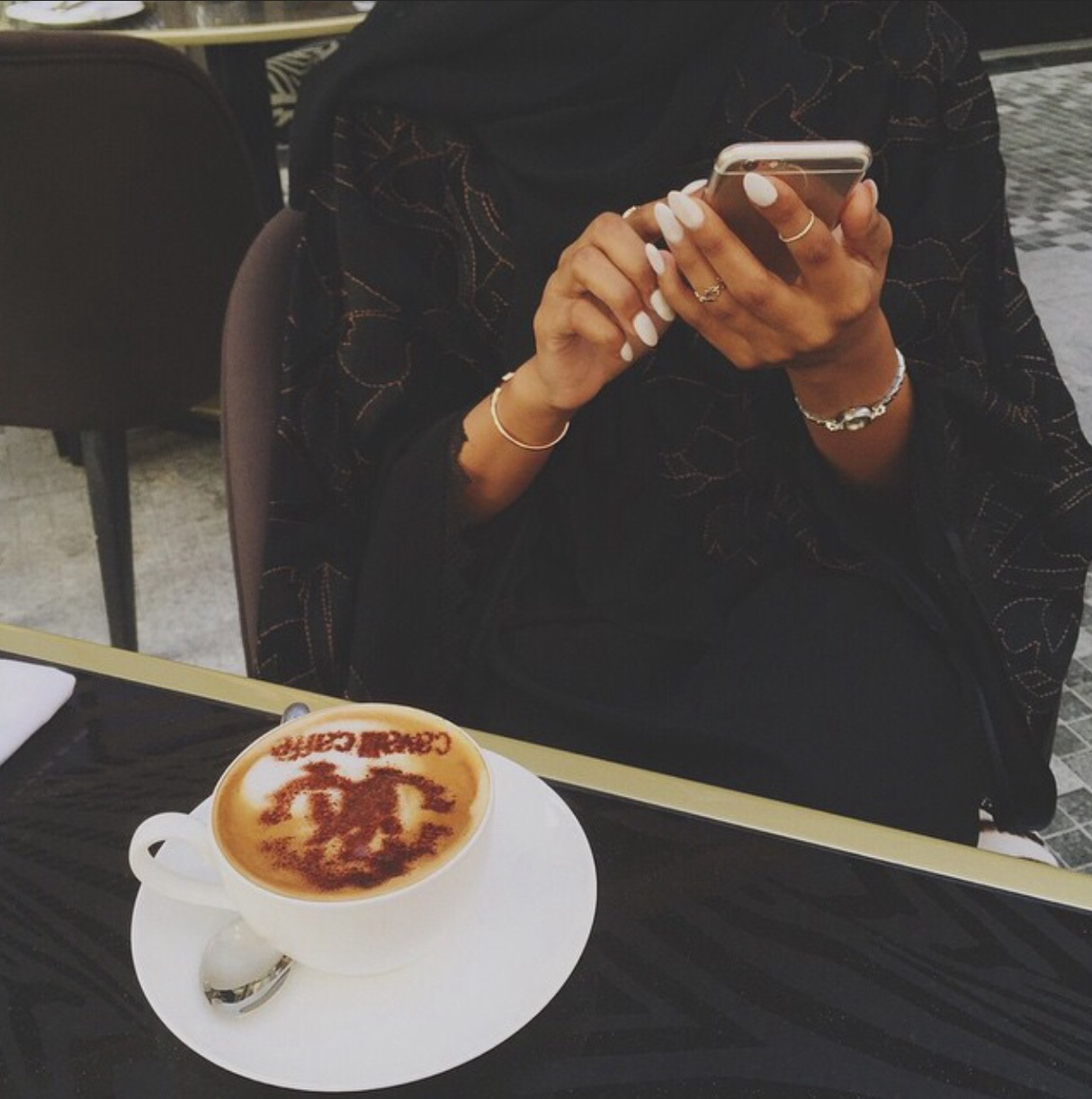cappuccino, coffee and girl