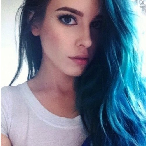 awesome, beanie, beautiful, blue, blue hair, cas, cool, eyebrows, eyeliner, fashion, girl, hair, inspiring, model, original, pale, perfect, pretty, sexy, winged eyeliner