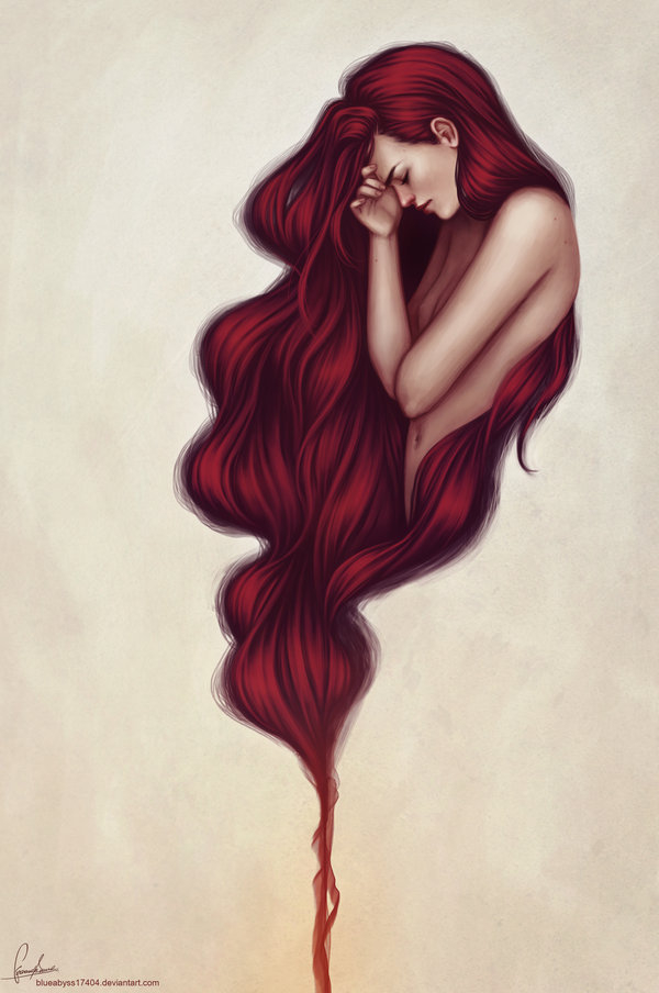 Amazing art drawing girl hair illustration lovely for Amazing drawings of girls