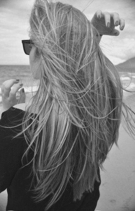 beach, black and white, blonde and clothes