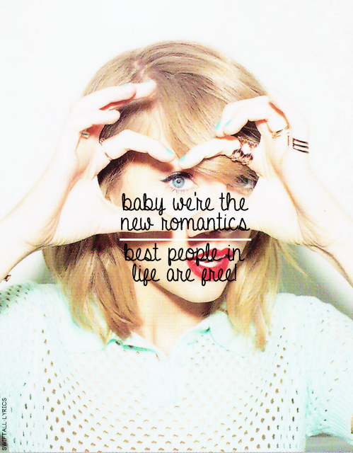 1989, lyrics, taylor swift, new romantics - image #2499368 ...