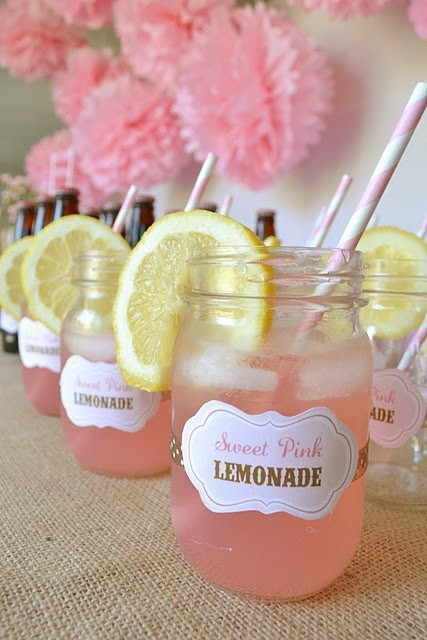 drink, lemon, lemonade and mason jar