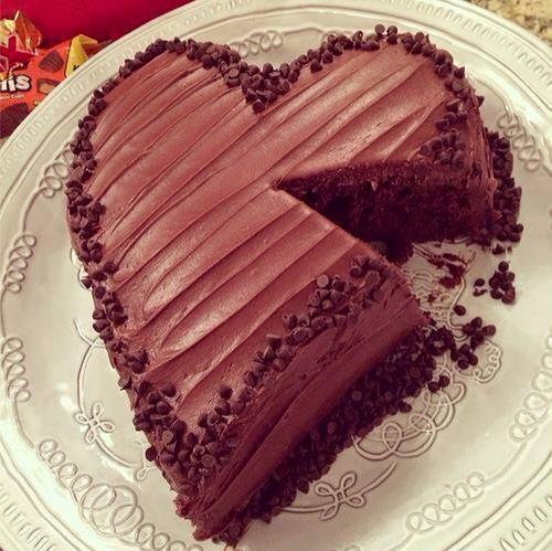 cake, chocolate, chocolate cake and heart cake