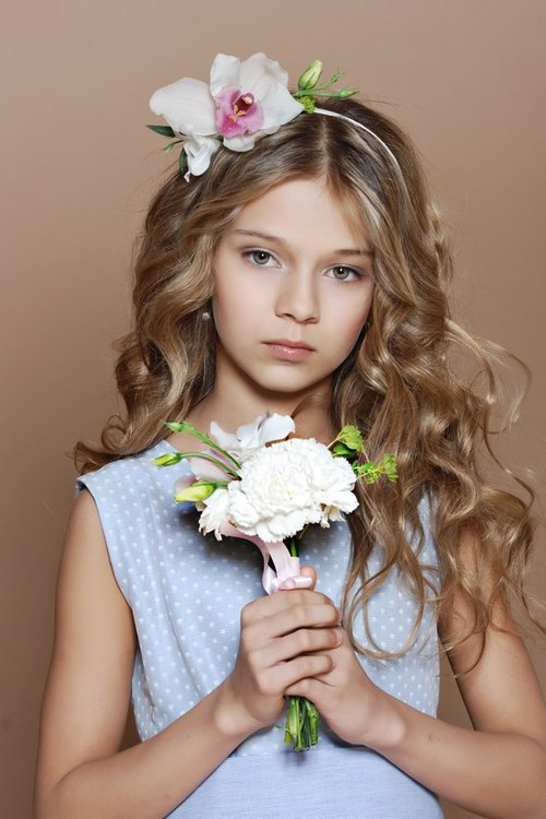 adorable, amazing, beautiful girl, beauty, blonde, child, dress, editorial, flowers, gorgeous, green eyes, hairdo, handsome, little model, look, lovely, most beautiful girl, photography, portrait, portraits, shooting, teen, curly blonde hair, young model