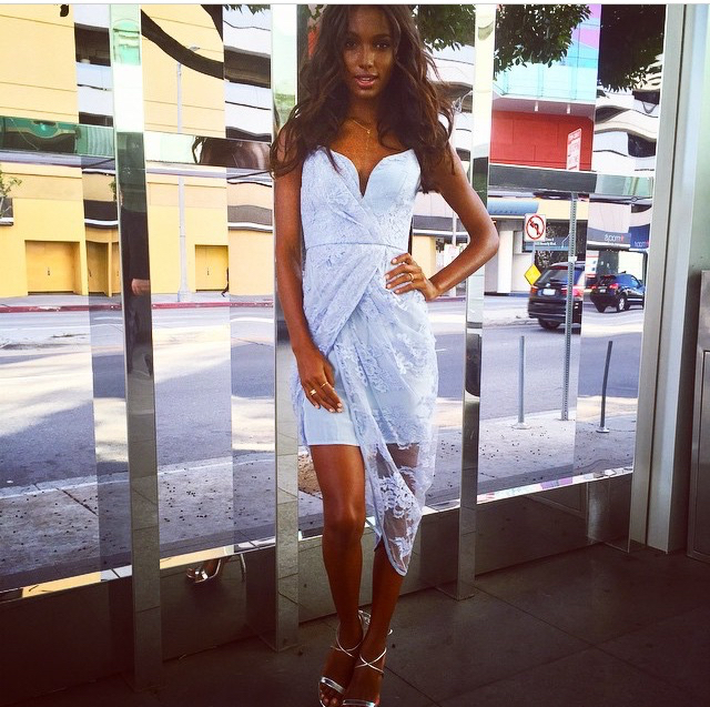beautiful, beauty, dress, fashion, girl, hair, jasmine tookes, makeup, model, outfit, spring, style, zimmermann