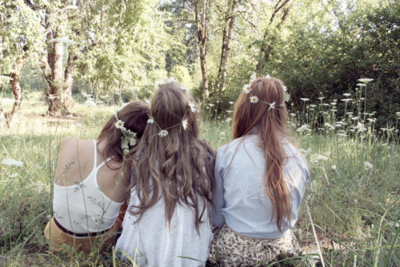 flowers, friends, girls, girly, hair, hipster, indie, nature, style, tumblr