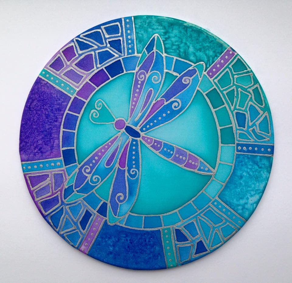 art, dragonfly, mosaic and turquoise