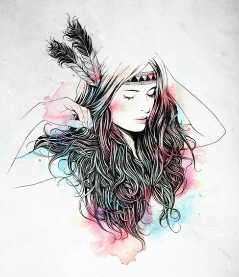 hipster girl drawing on tumblr - image #2623708 par Maria ...