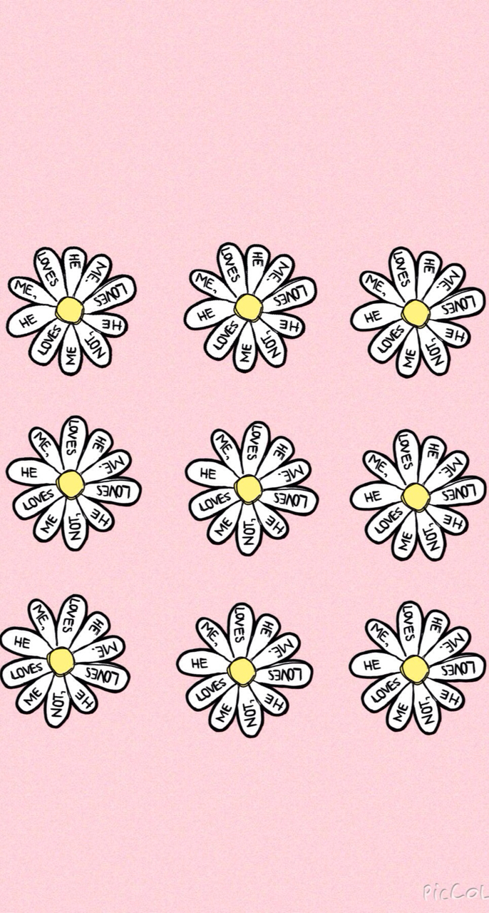 background, backgrounds, cute, daisy, flowers, iphone wallpaper, love ...