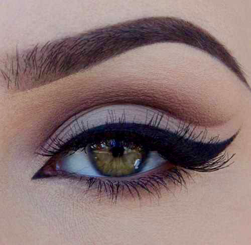 beautiful, black eyeliner, colored eyes and cute