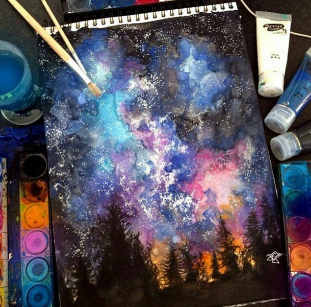 Magic and night sky image 2656868 by marky on for Painting with nature items