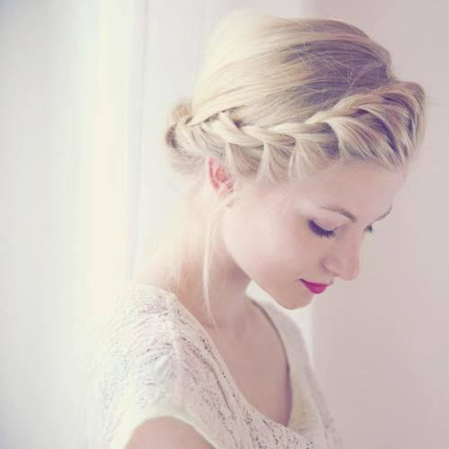 beautiful, beauty, blonde, braid, braided, braided hair, braids, girl, girl thing, girly, girly stuff, hair, hairstyle, hipster, lace, lady, lipstick, makeup, outfit, pretty, style, stylish, woman, crown braid