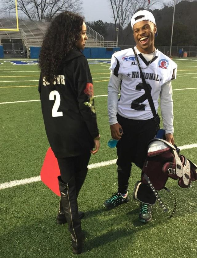 american football, black couple, couple and cute