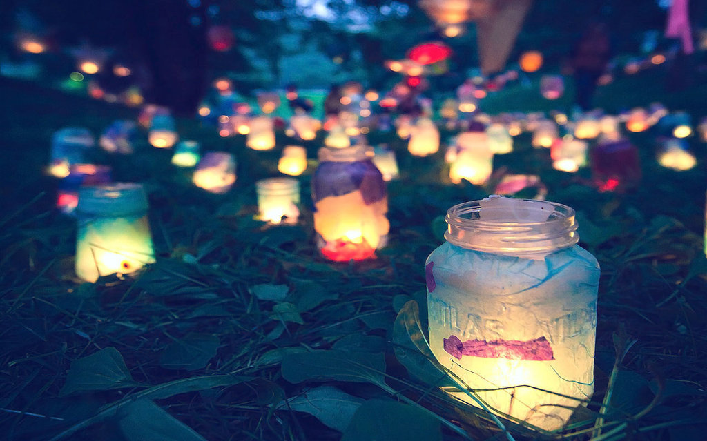 background, bokeh, candle, cute, diy, grass, happy, jars, lights, night, photo, photography, pinterest, pretty, smile, summer, tumblr, wallpaper, warm