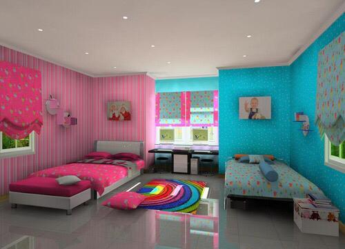 inspiration pink and blue room image 2671045 by