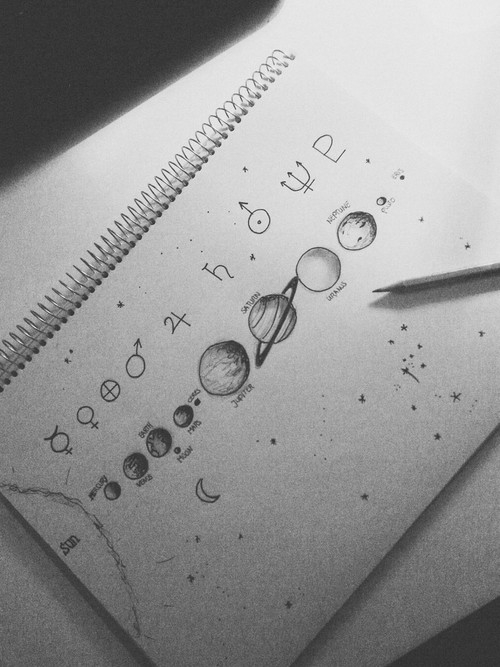 Art Creative Doodle Draw Pencil Planet Sketch Tumblr - Image #2677819 By KSENIA_L On ...