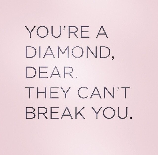 diamond, life, note and text