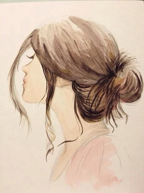 art, draw, drawing, girl, hair, painting, watercolor, drawspiration
