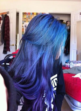 beauty, blue, blue hair, color, colorful, cute, fashion, girl, girly, hair, love, pretty, punk, style