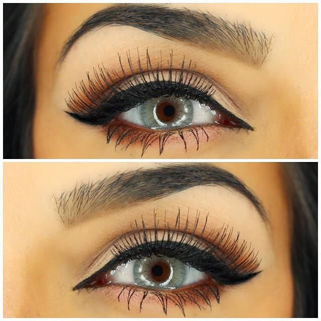 black, brows, eye and lashes