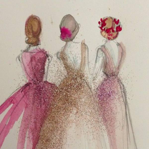 amazing, art, beautiful, beauty, draw, drawing, dress, flower, flower crown, friends, girl, girl thing, girls, girly, girly stuff, glitter, gold, hair, hairstyle, lady, outfit, paint, painting, perfect, pink, pretty, princess, sparkle, woman
