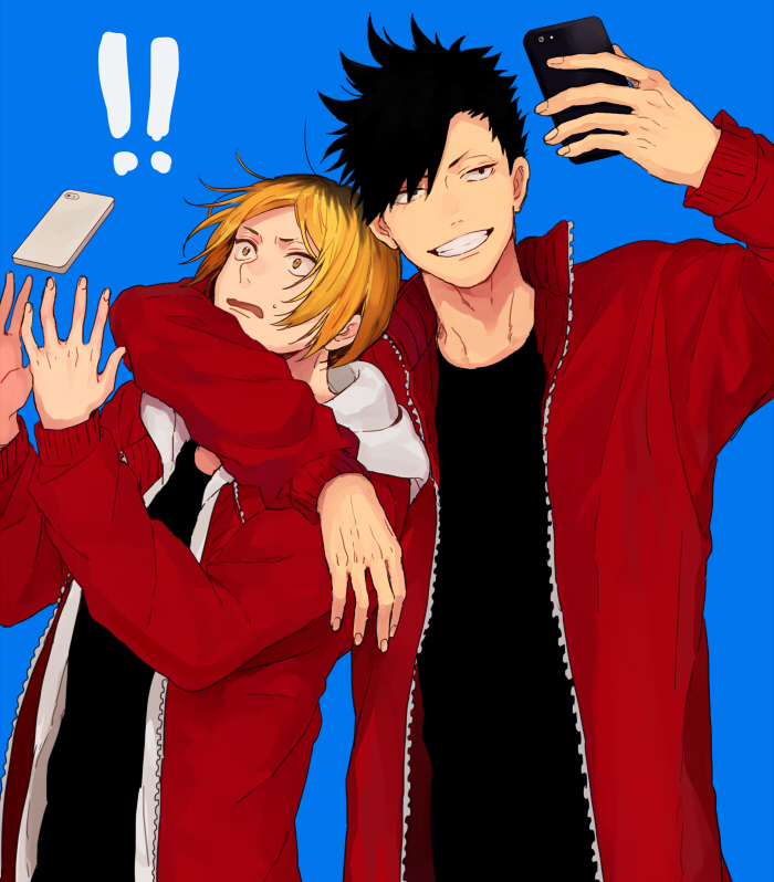 phone, taking a photo, haikyuu!! and kuroo tetsurou
