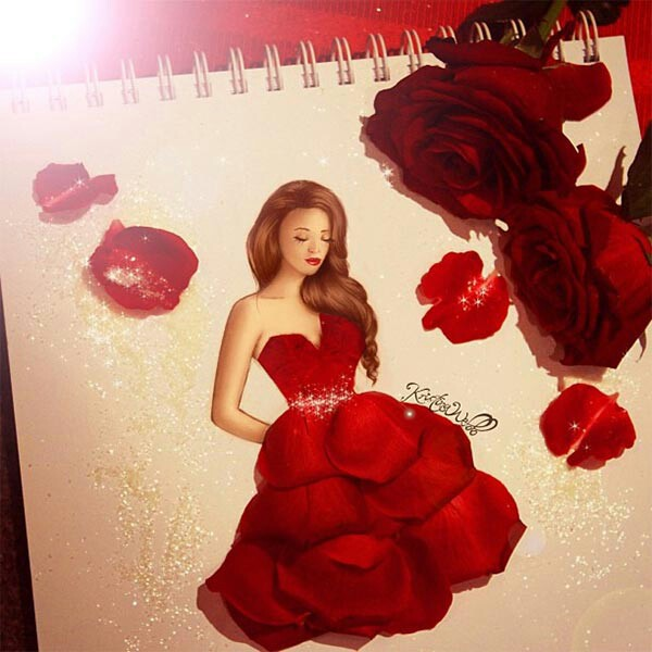 Red rose image 2759885 by marky on for Pretty rose drawings