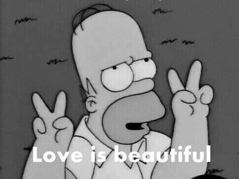 funny, homer simpson and love