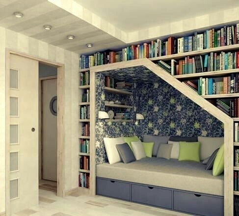 books, design, place, reading, room