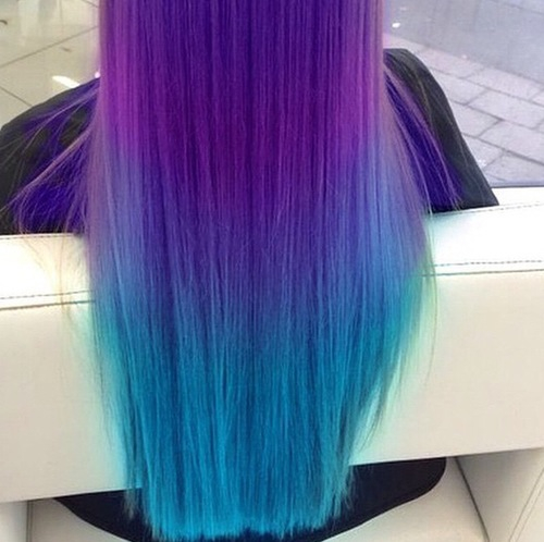Blue Hair Hairstyles Inspiring Ombre Purple Image