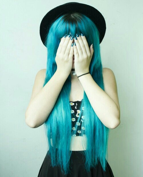 alternative, beautiful, blue, blue hair, boho, color, colorful, cute, fashion, girl, girly, grunge, hair color, hair style, hipster, indie, jersey, long, long hair, love, lovely, pale, pretty, scene, scene girl, scene hair, soho, tumblr, vintage