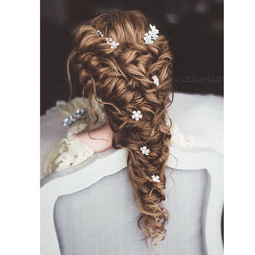 beautifull, boho, braid, curls, fashion, flowers, hair ...