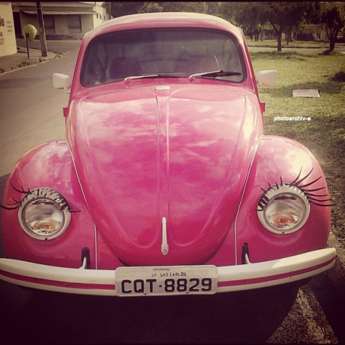 background, girly, old car, pink