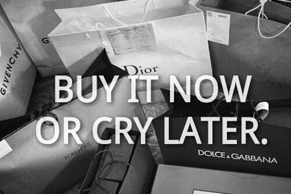 brands, buy, clothes, cry, dior, expensive, fashion, girl, girl thing, girly, girly stuff, givenchy, lady, later, quotes, shop, shopping, woman, yolo, Dolce & Gabbana