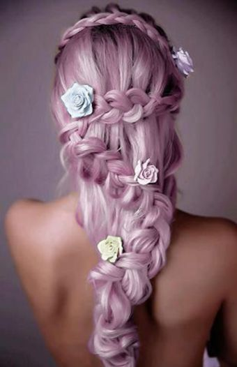 beauty, braid, chalk and color