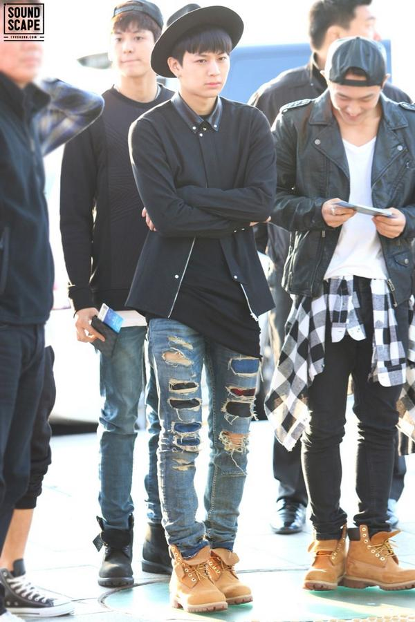 Boy Fashion Ikon Korean Kpop Airport Style Image
