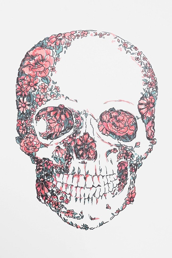Background Cute Flower Frilly Girly Iphone Pink Skull