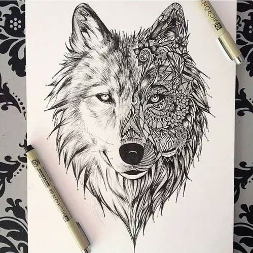 dress - Drawings awesome of wolves photo video