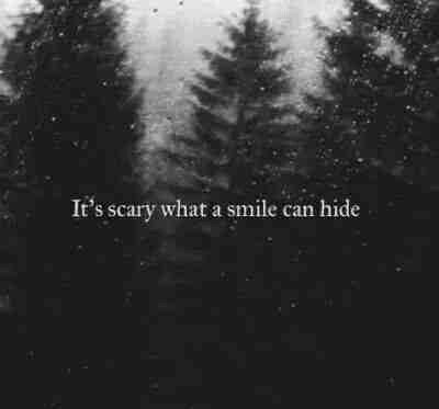 crying, fake smile, quotes, sad, scary - image #2910848 by ...
