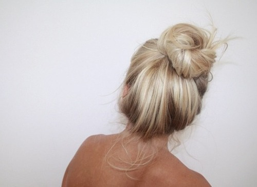 back, background, blonde and bun