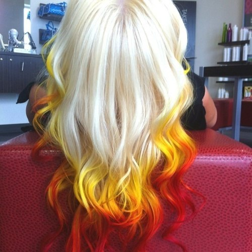 Fire hair color ombre