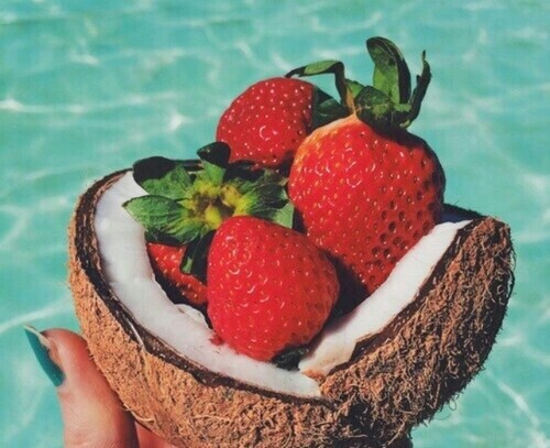 Beach Coconut Favorite Fit Fruits Good Vibes Healthy