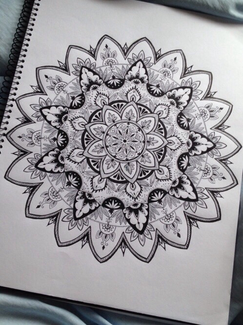 black and white, draw, drawing and flower