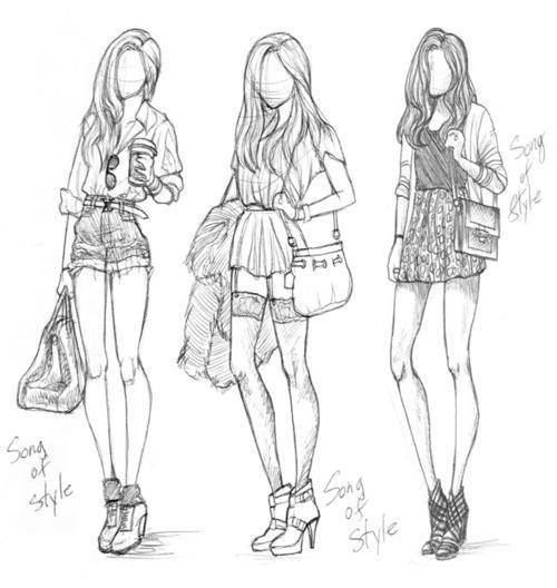 how to draw fashion hair